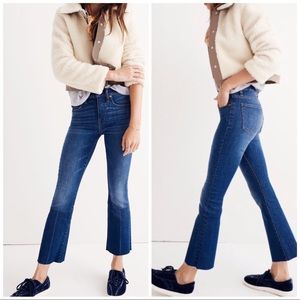 Madewell Cali Demi Boot Fray Jeans, 26